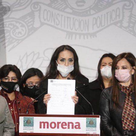 Diputados federales y locales de MORENA, piden a Mario Delgado aceptar los resultados que le dan el triunfo a Porfirio Muñoz Ledo como dirigente Nacional del partido.
