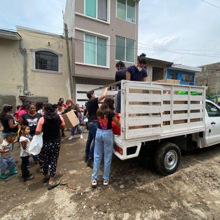 Apoyan a los afectados por las lluvias en Zapopan, jóvenes empresarios